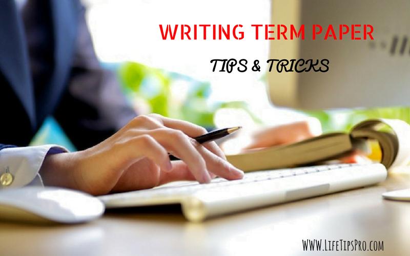 Writer's block term paper